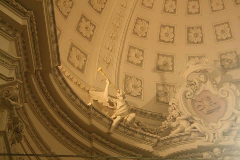 Particolare della bellissima cupola dell'auditorium di Sant'Agostino a Civitanova Marche Alta