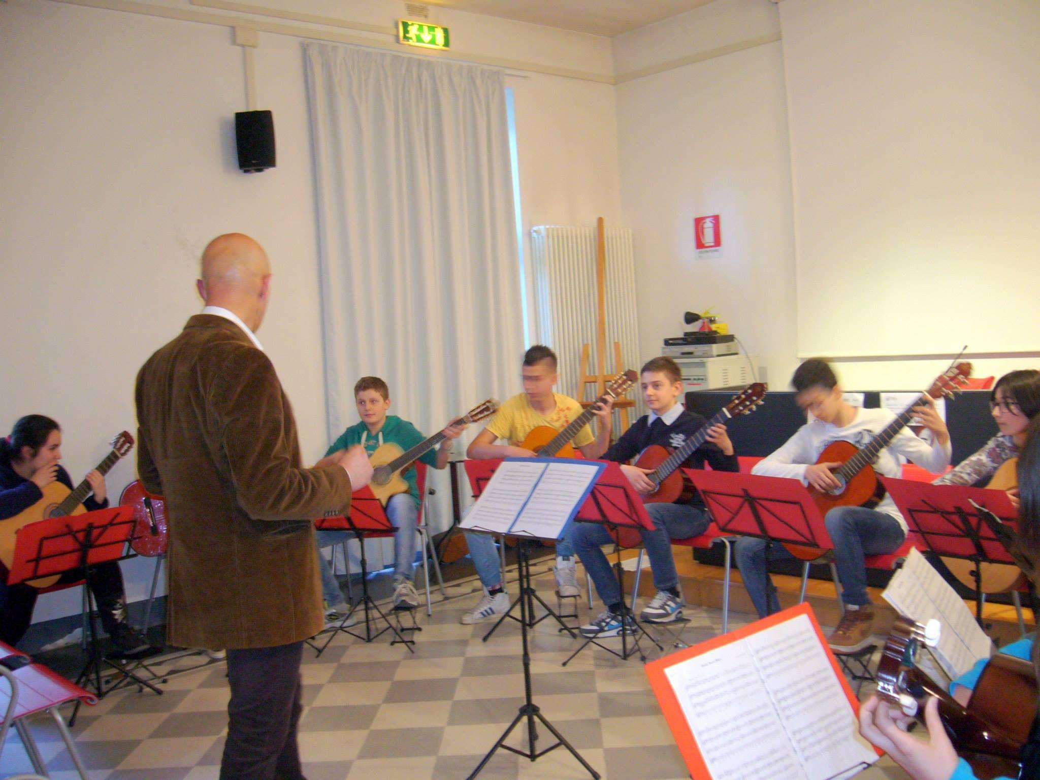 Gli studenti dell'Istituto Musicale Vaccaj